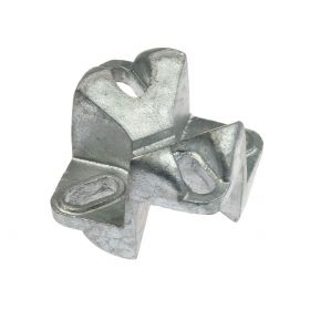 Cast iron crossover clamp without U-bolt, hot-dip galvanised
