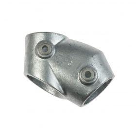 G129 Cast iron 30°-60° adjustable Tee A3, hot-dip galvanised