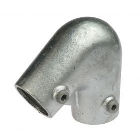 G123 Cast iron 2 way elbow 40°-70° A5, hot-dip galvanised
