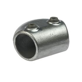 G124 Cast iron variable elbow 165°-105° A7, hot-dip galvanised