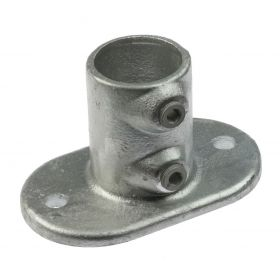 G132 Cast iron railing base flange A12, hot-dip galvanised
