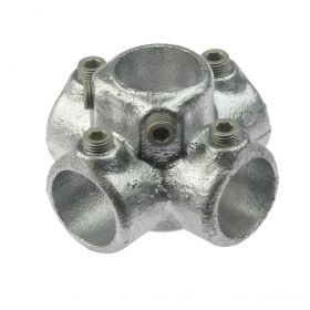 G158 Cast iron 4-way clamp A26, hot-dip galvanised