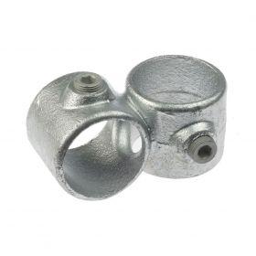 G161 Cast iron 90° cross clamp A28, hot-dip galvanised