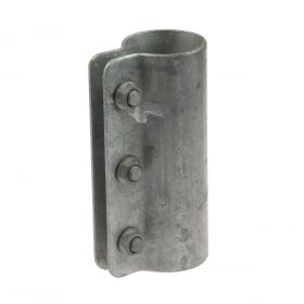 One-part Pipe Connecting Clamp, hot-dip galvanised