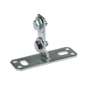 "Support flange 30 ""Square"", zinc plated"