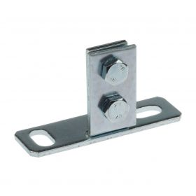 "Support flange 30 ""Length"", zinc plated"