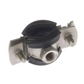 BIFIX® 1301 pijpbeugels, M8, RVS 316, met rubber inlaag