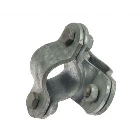 Welded Crossover Clamp, hot-dip galvanised