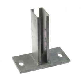 Base plate for tube 60 x 40 mm, hot-dip galvanised