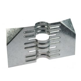 Mounting plate for pole pre-galvanised