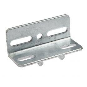 Corner piece 63 x 63 x 150 mm with ø12 mm anti-turn, hot-dip galvanised