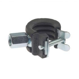 Ophang pijpbeugel M8/M10, elektrolytisch verzinkt, met rubber inlaag